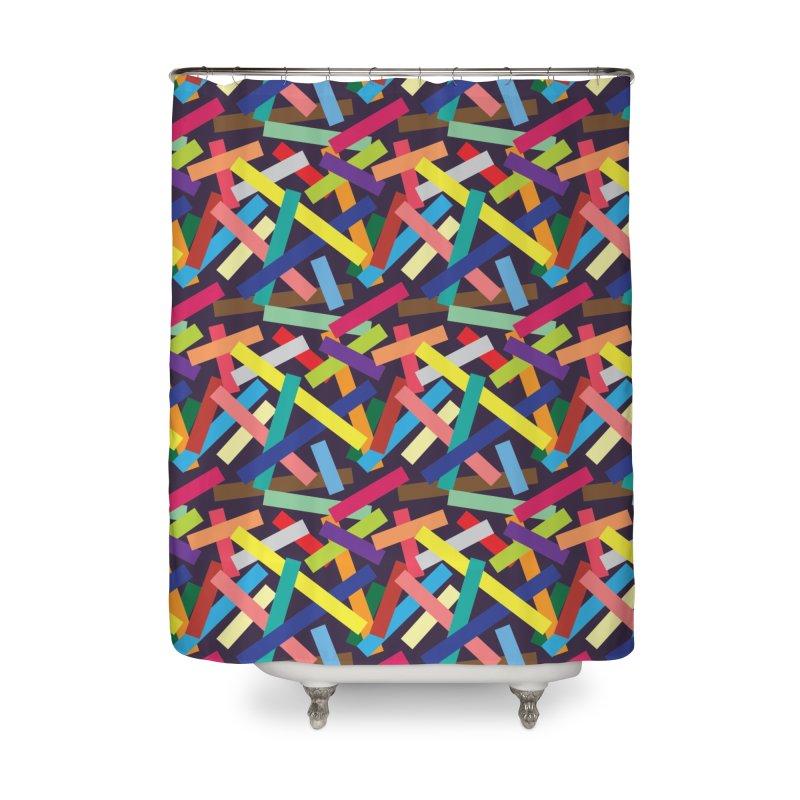 Confetti Home Shower Curtain by Joe Van Wetering
