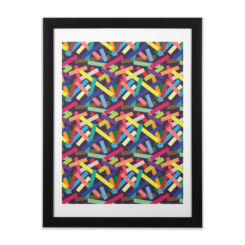 Confetti Home Framed Fine Art Print by Joe Van Wetering