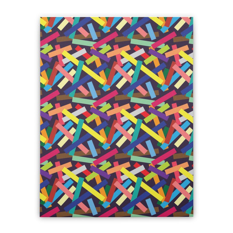 Confetti Home Stretched Canvas by Joe Van Wetering