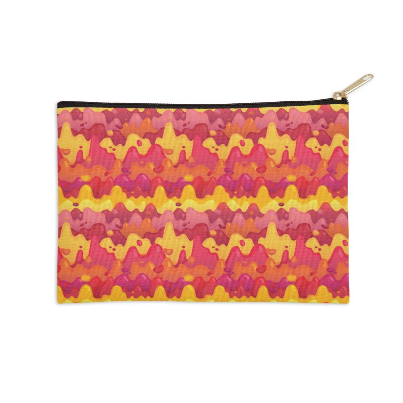 Floor is Lava Accessories Zip Pouch by Joe Van Wetering