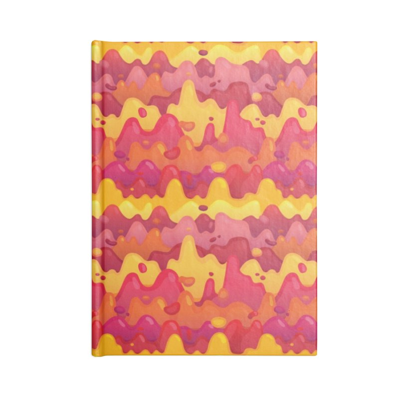 Floor is Lava Accessories Lined Journal Notebook by Joe Van Wetering