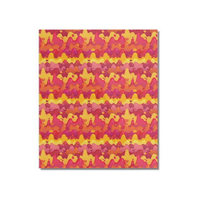 Floor is Lava Home Mounted Acrylic Print by Joe Van Wetering