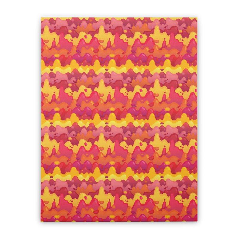 Floor is Lava Home Stretched Canvas by Joe Van Wetering