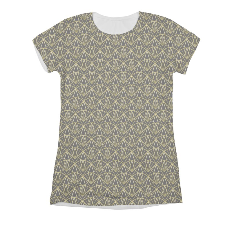 Deco Women's Triblend All Over Print by Joe Van Wetering