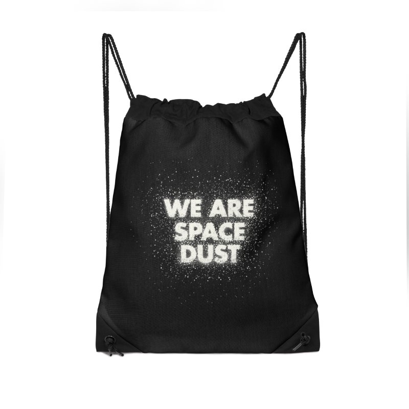 We Are Space Dust Accessories Drawstring Bag Bag by Joe Van Wetering