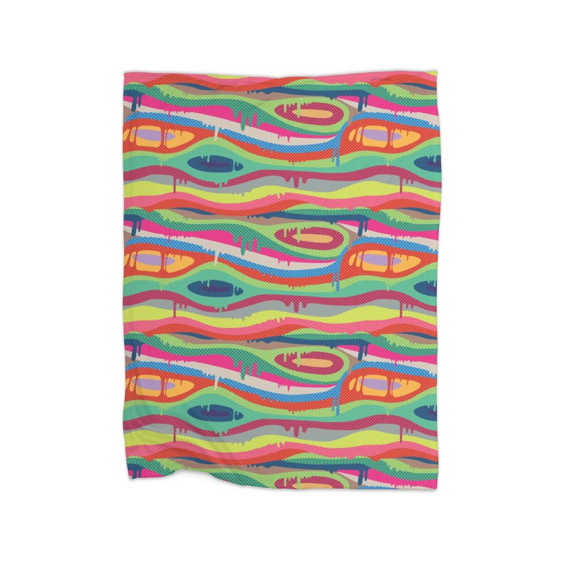 Pop Melt Home Fleece Blanket Blanket by Joe Van Wetering
