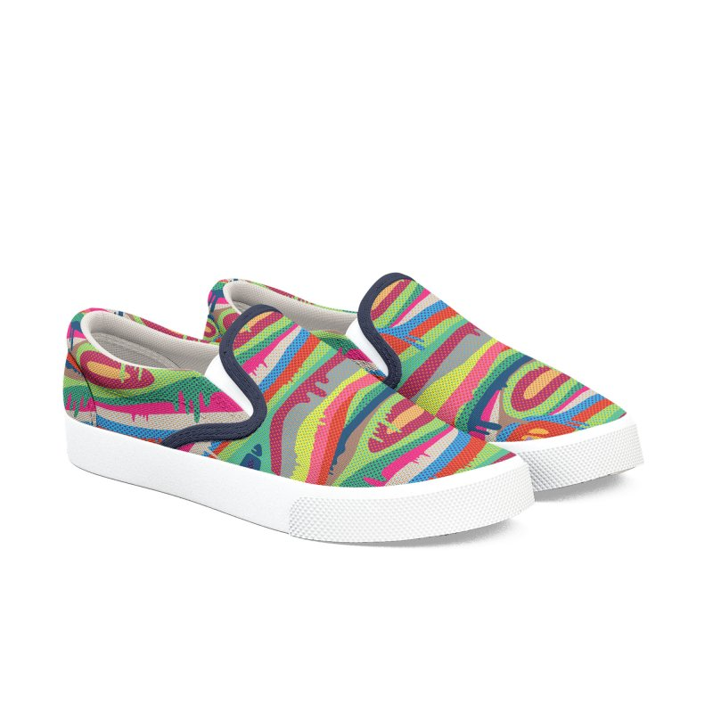 Pop Melt Men's Slip-On Shoes by Joe Van Wetering