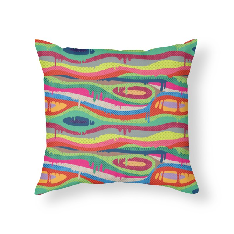 Pop Melt Home Throw Pillow by Joe Van Wetering