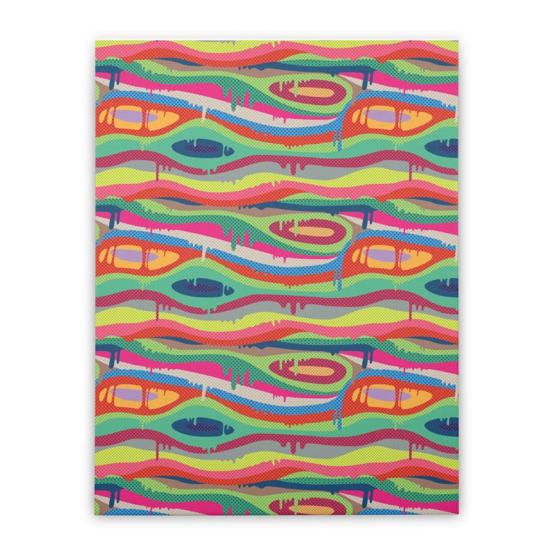 Pop Melt Home Stretched Canvas by Joe Van Wetering