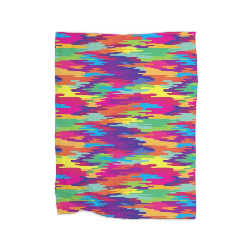Saturated Smog Home Fleece Blanket Blanket by Joe Van Wetering