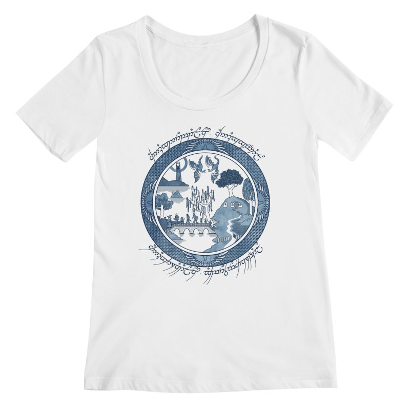 Fellowship of the Willow Women's Scoopneck by joewright's Artist Shop