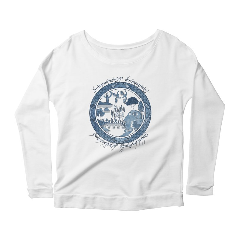 Fellowship of the Willow Women's Longsleeve Scoopneck  by joewright's Artist Shop
