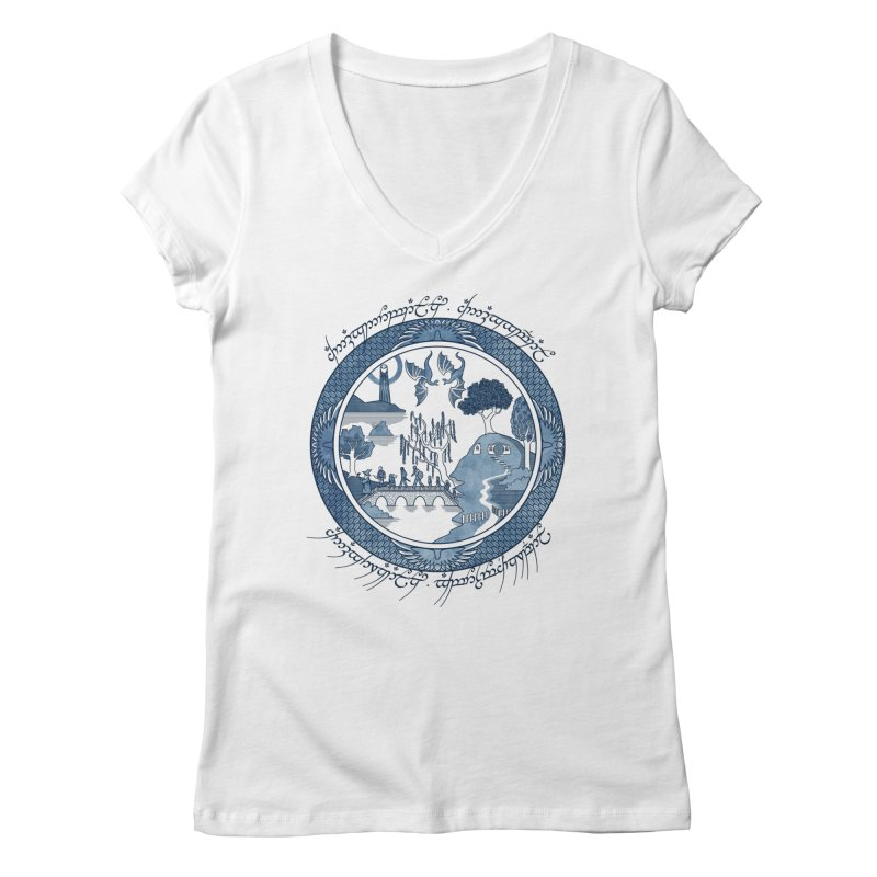Fellowship of the Willow Women's V-Neck by joewright's Artist Shop
