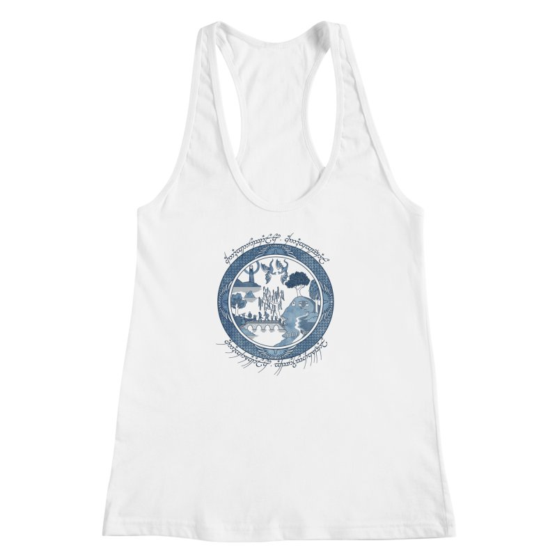 Fellowship of the Willow Women's Racerback Tank by joewright's Artist Shop