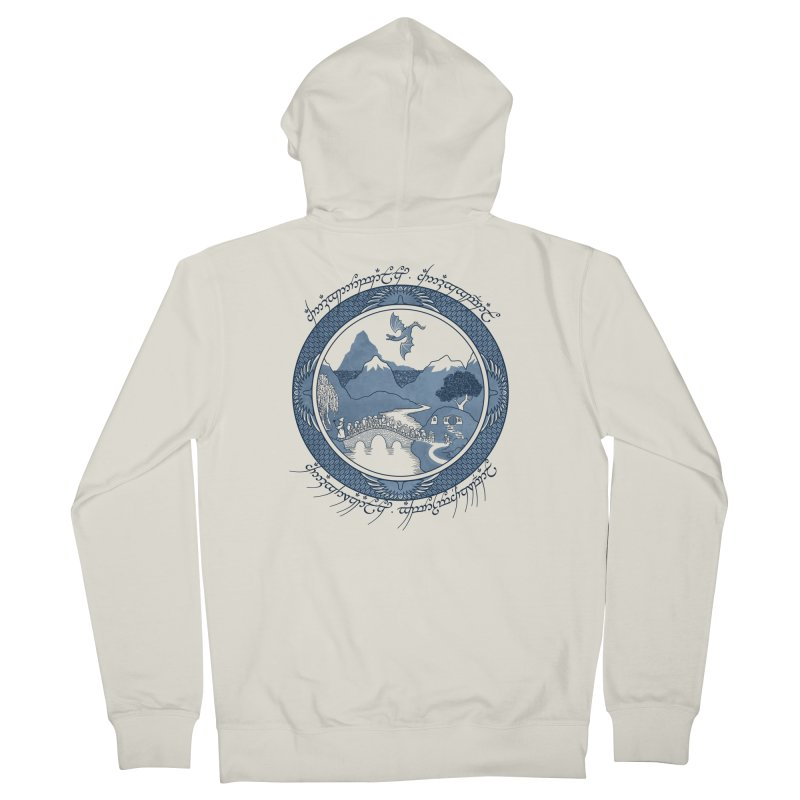 There & Back Again Women's Zip-Up Hoody by joewright's Artist Shop
