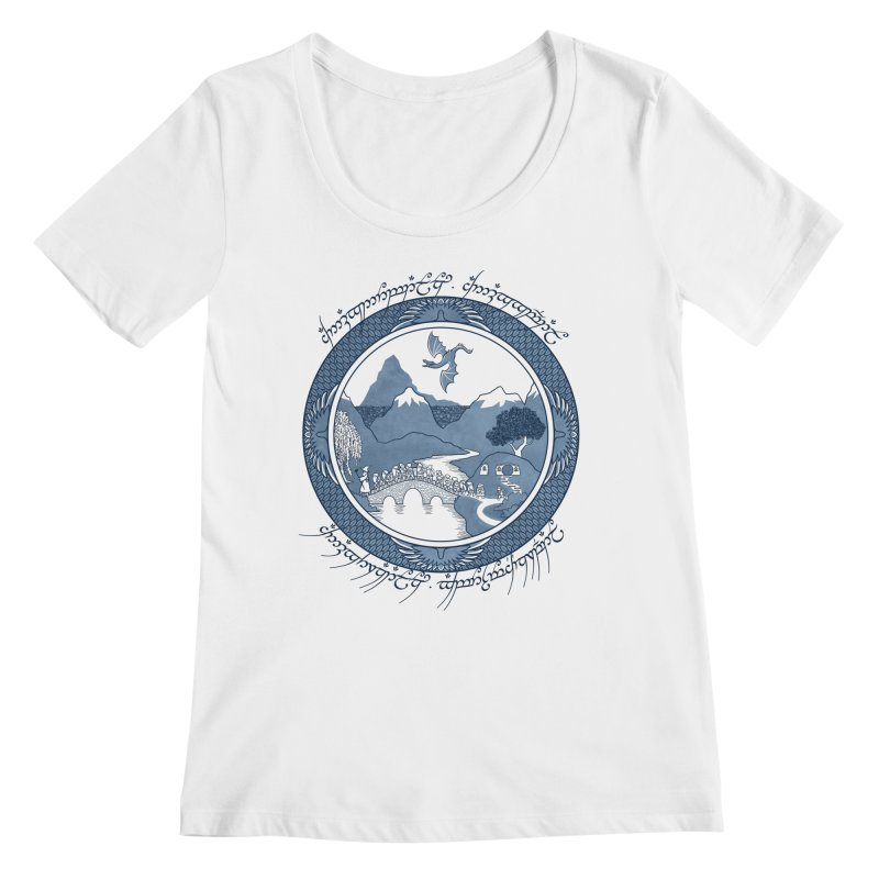 There & Back Again Women's Scoopneck by joewright's Artist Shop