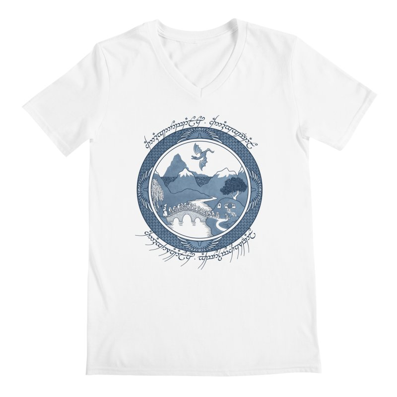 There & Back Again Men's V-Neck by joewright's Artist Shop