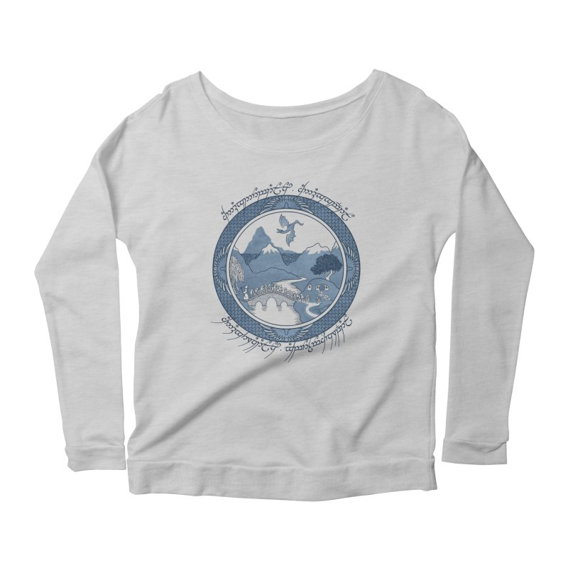 There & Back Again Women's Longsleeve Scoopneck  by joewright's Artist Shop