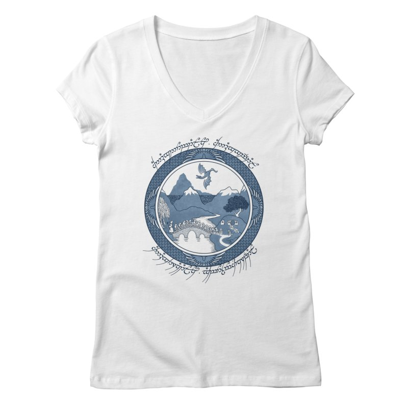 There & Back Again Women's V-Neck by joewright's Artist Shop
