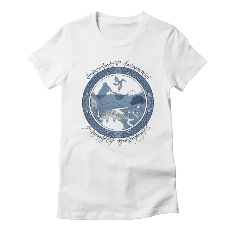 There & Back Again Women's Fitted T-Shirt by joewright's Artist Shop
