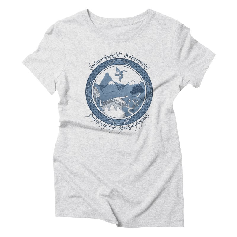 There & Back Again Women's Triblend T-Shirt by joewright's Artist Shop