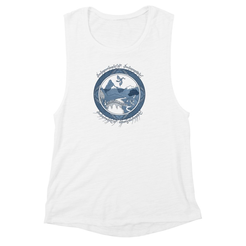 There & Back Again Women's Muscle Tank by joewright's Artist Shop