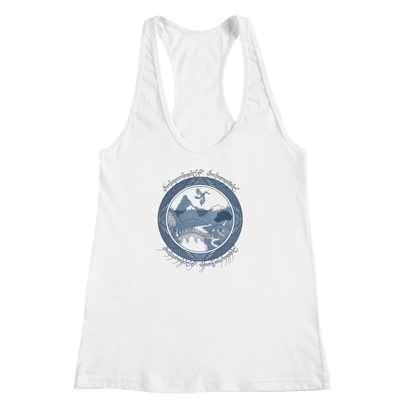 There & Back Again Women's Racerback Tank by joewright's Artist Shop