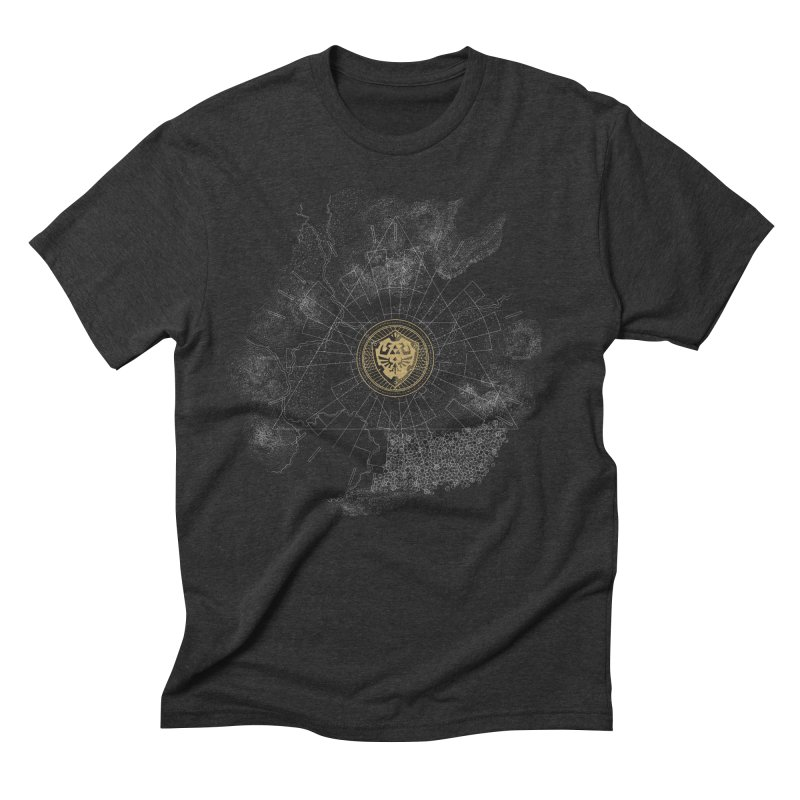 The Hyrulian King Men's Triblend T-shirt by joewright's Artist Shop