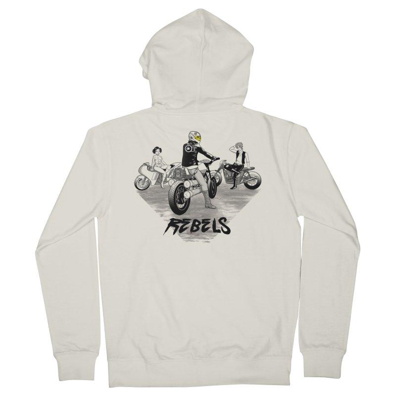 Rebels Men's Zip-Up Hoody by joewright's Artist Shop