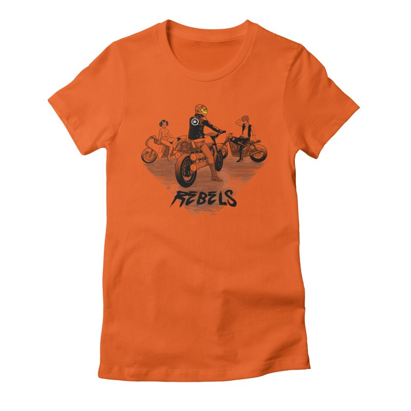Rebels Women's Fitted T-Shirt by joewright's Artist Shop