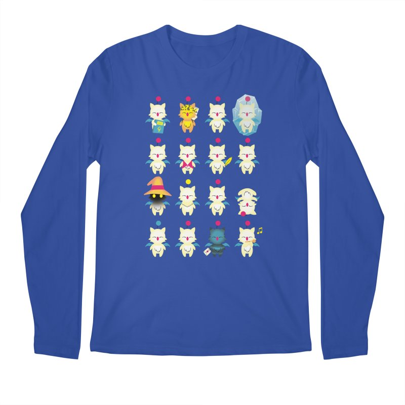 Moogle Medley Men's Longsleeve T-Shirt by joewright's Artist Shop