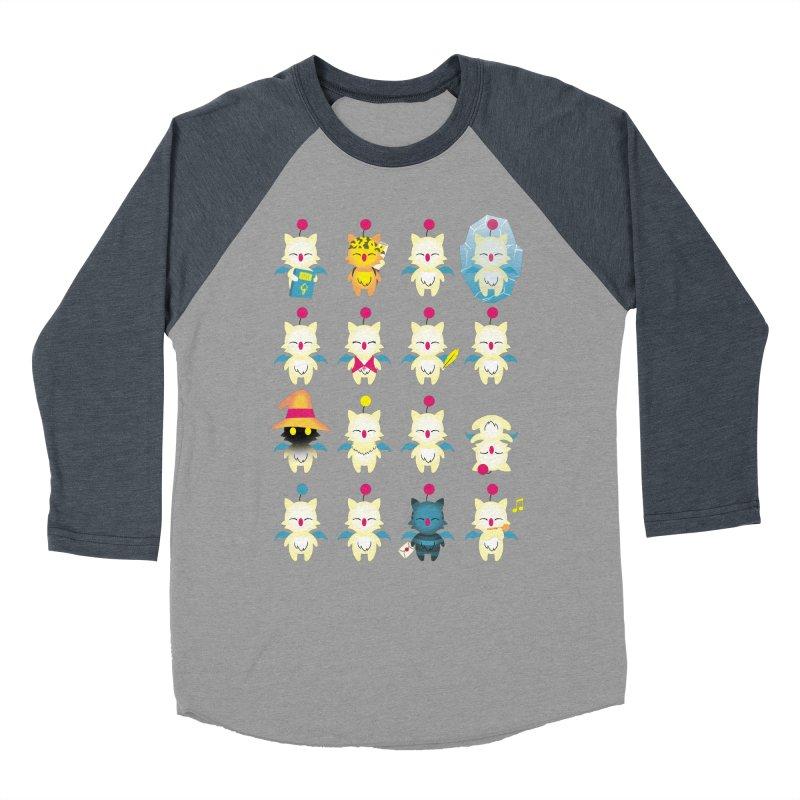 Moogle Medley Men's Baseball Triblend T-Shirt by joewright's Artist Shop
