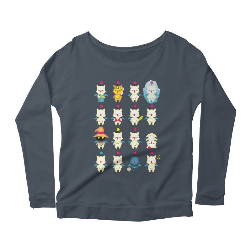Moogle Medley Women's Longsleeve Scoopneck  by joewright's Artist Shop