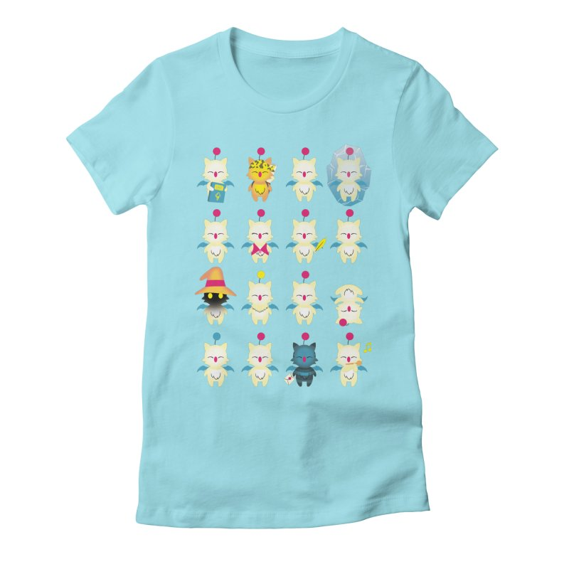 Moogle Medley Women's Fitted T-Shirt by joewright's Artist Shop
