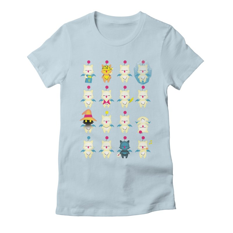 Moogle Medley Women's Fitted T-Shirt by joewright's Artist Shop