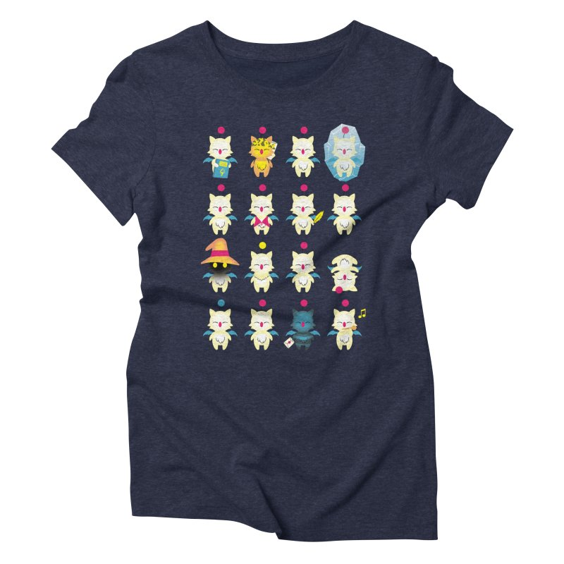 Moogle Medley Women's Triblend T-Shirt by joewright's Artist Shop