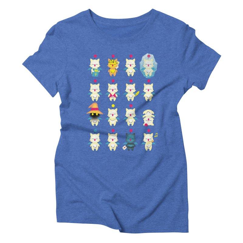 Moogle Medley Women's Triblend T-shirt by joewright's Artist Shop