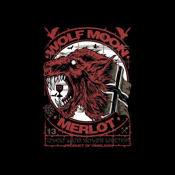 """Design for """"WOLF MOON MERLOT"""""""