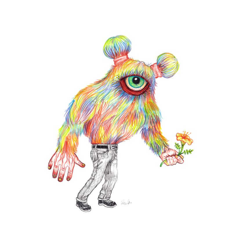 Rainbow Beastie by John Casey Tees