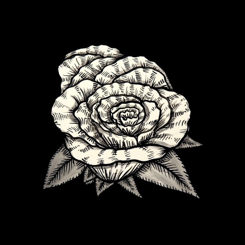 Rose by John Casey Tees