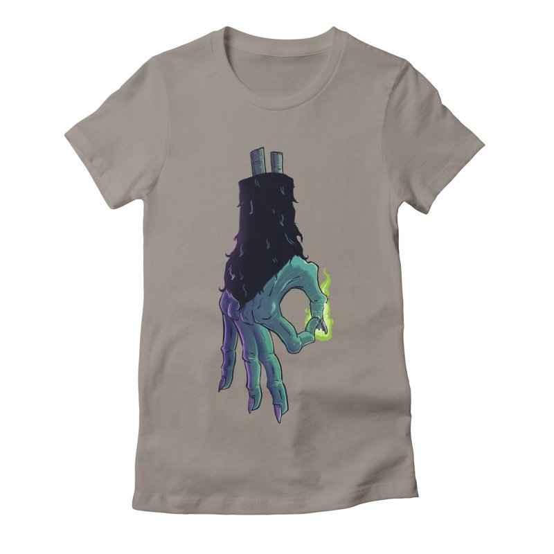 Monkey Paw Okay Women's Fitted T-Shirt by John Cottrell