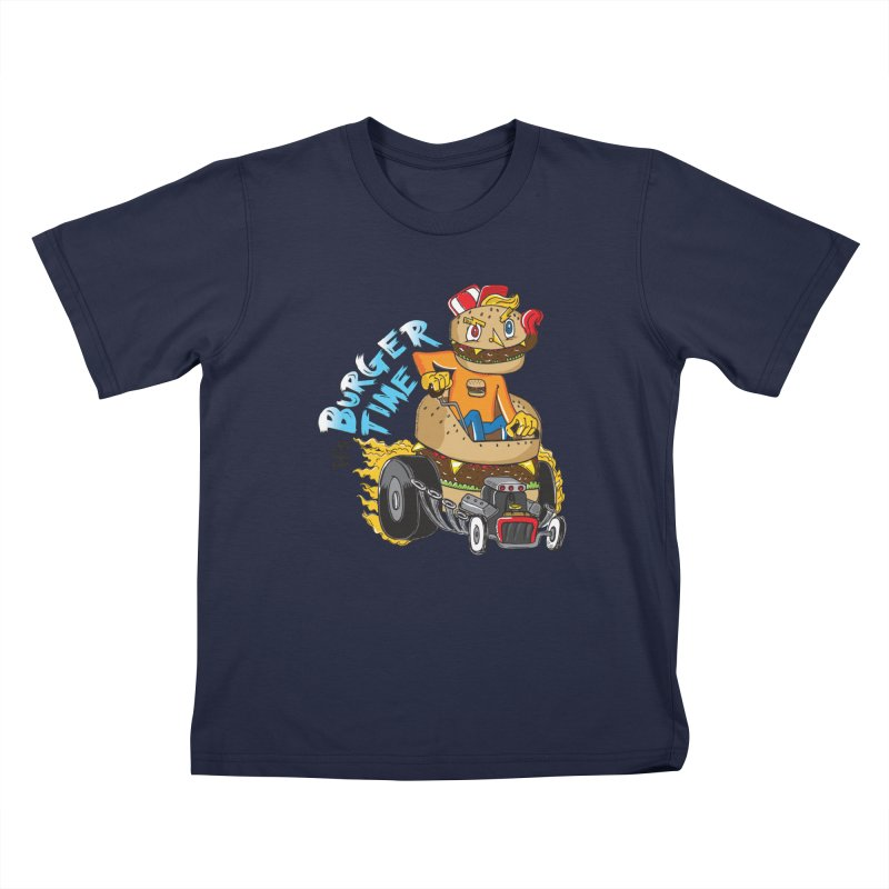 It's Burger Time! Kids Toddler T-Shirt by John D-C's Artist Shop