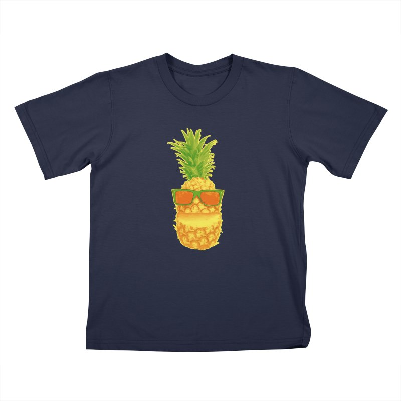 Mr Pineapple On Vacation Kids Toddler T-Shirt by John D-C's Artist Shop