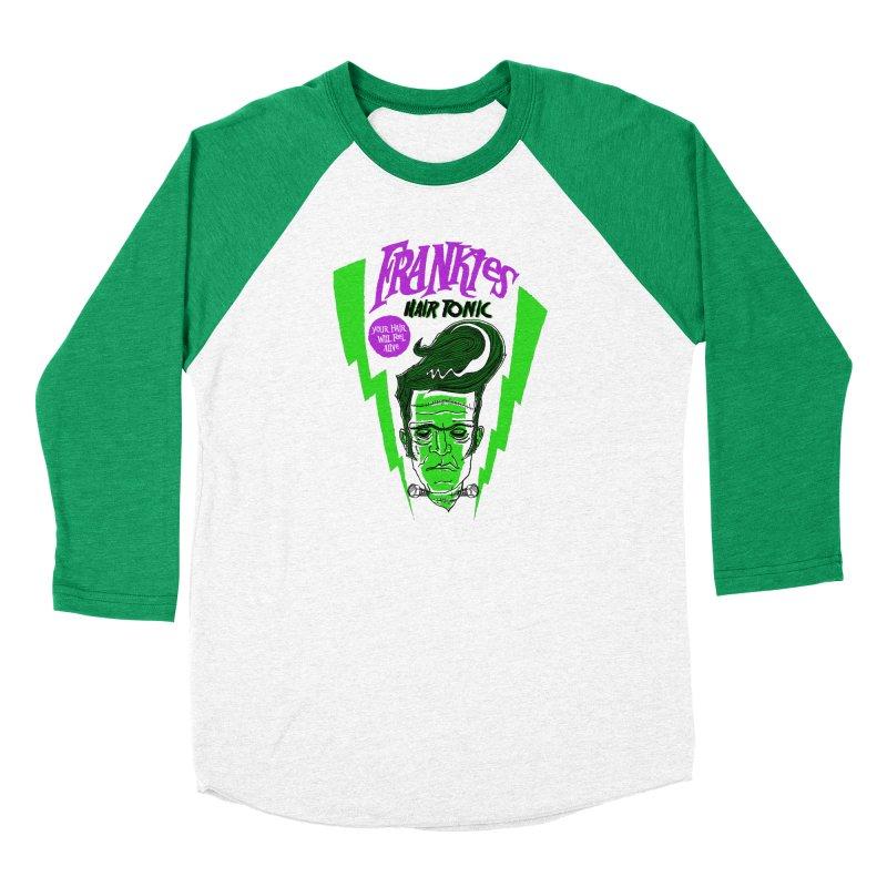Frankies Hair Tonic in Men's Baseball Triblend Longsleeve T-Shirt Tri-Kelly Sleeves by John D-C