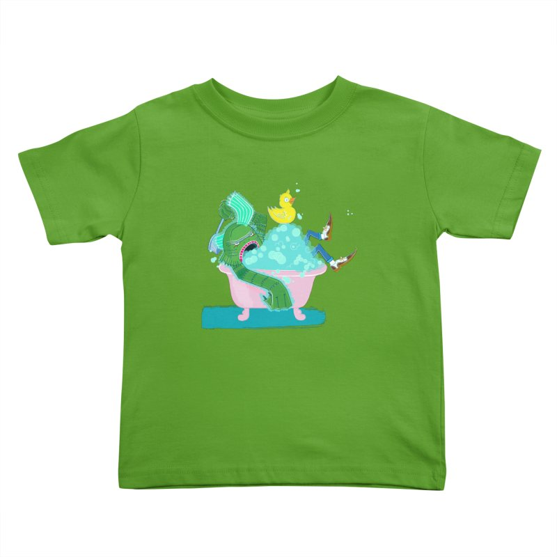 Splish Splash Clarence was Taking a Bath Kids Toddler T-Shirt by John D-C