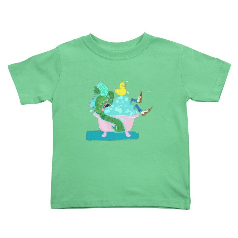 Splish Splash Clarence was Taking a Bath Kids Toddler T-Shirt by John D-C's Artist Shop