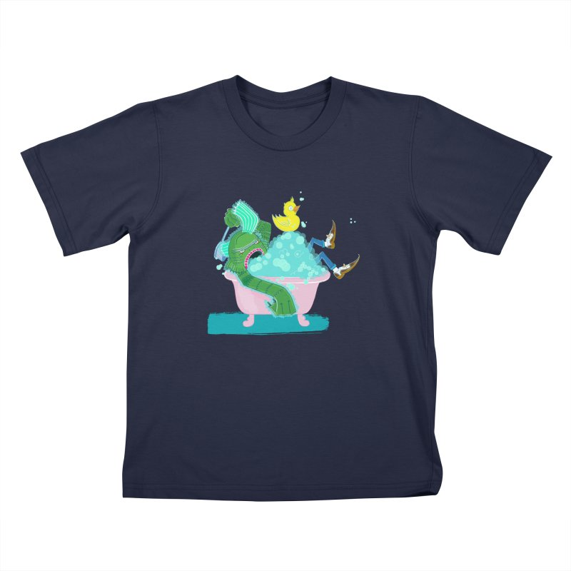 Splish Splash Clarence was Taking a Bath Kids Toddler T-Shirt by John D-C's Artist Shop