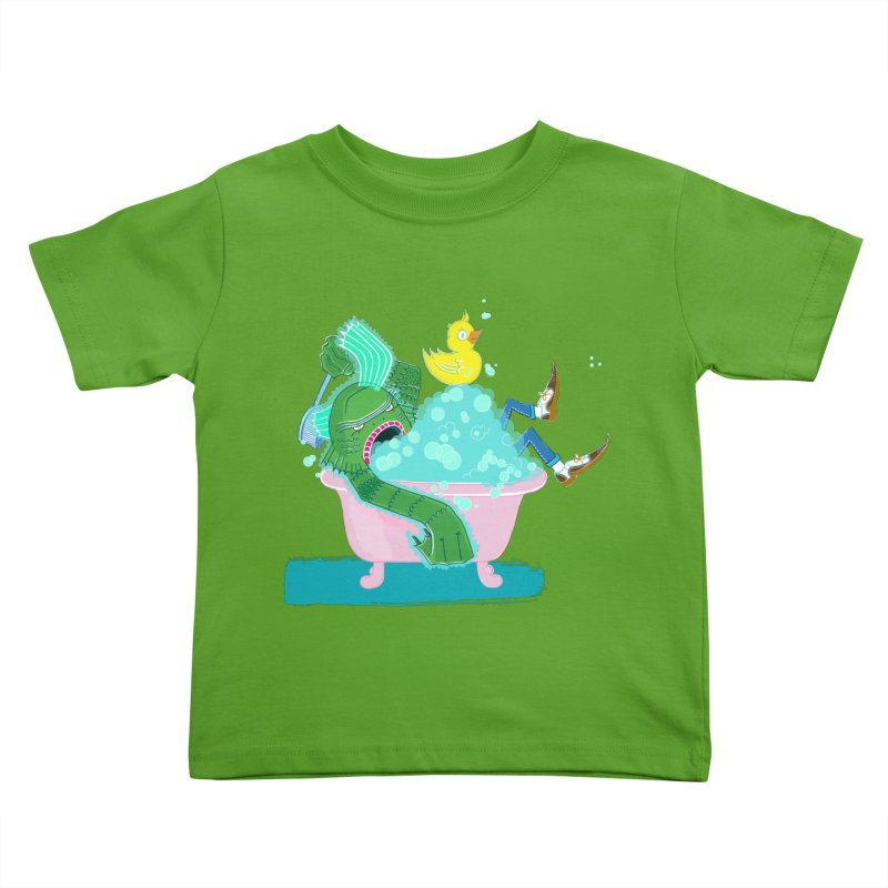 Splish Splash Clarence was Taking a Bath in Kids Toddler T-Shirt Apple by John D-C