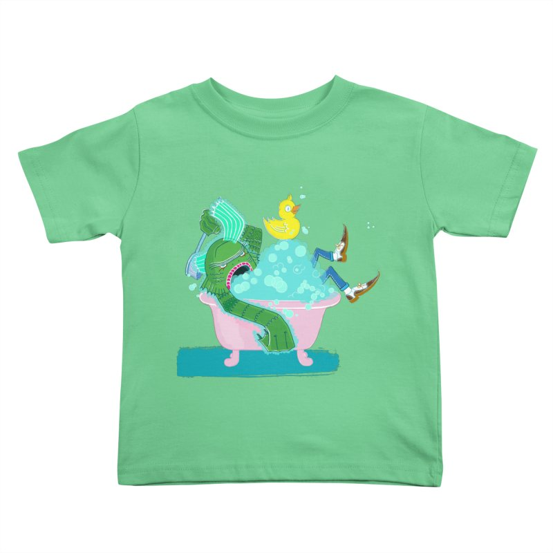 Splish Splash Clarence was Taking a Bath in Kids Toddler T-Shirt Grass by John D-C's Artist Shop