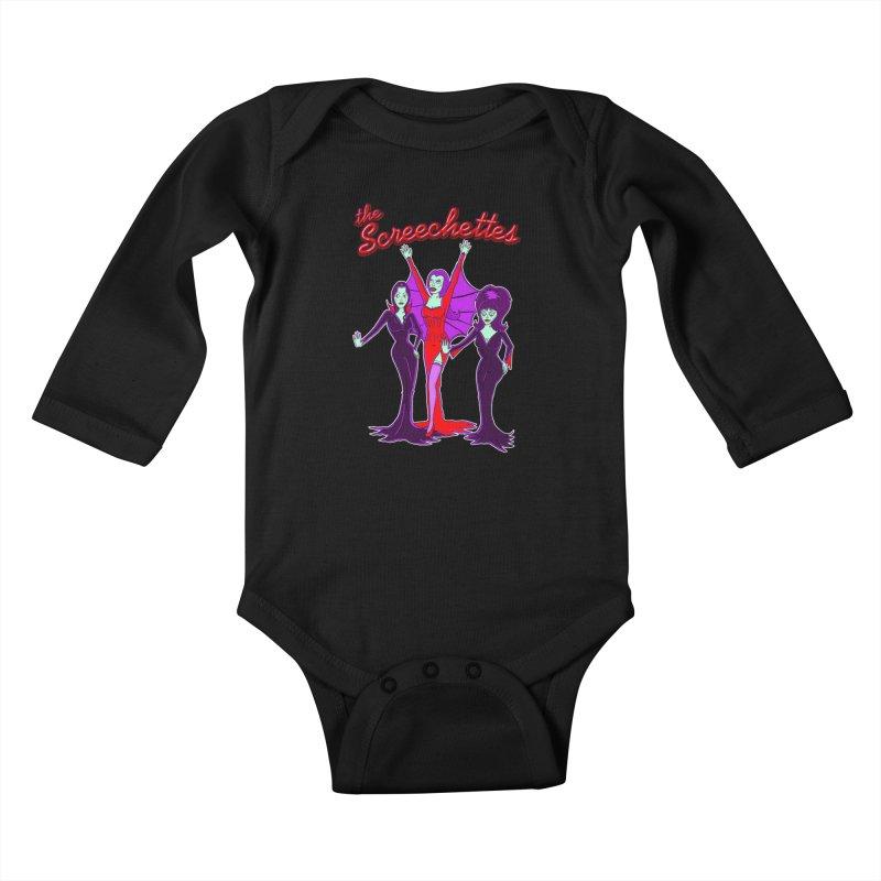 The Screechettes Kids Baby Longsleeve Bodysuit by John D-C